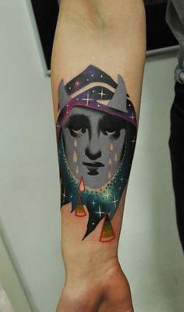 marcin aleksander surowiec tattoo crying face