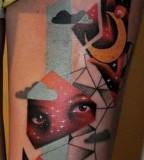 marcin aleksander surowiec tattoo eyes and moon