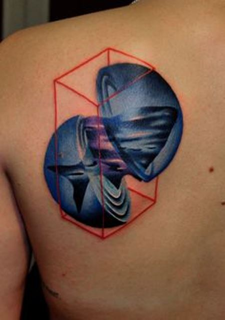 marcin aleksander surowiec tattoo fish bubble and red rectangular