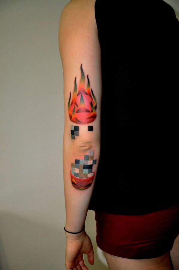 marcin aleksander surowiec tattoo flame