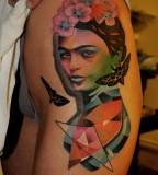 marcin aleksander surowiec tattoo frida and butterflies
