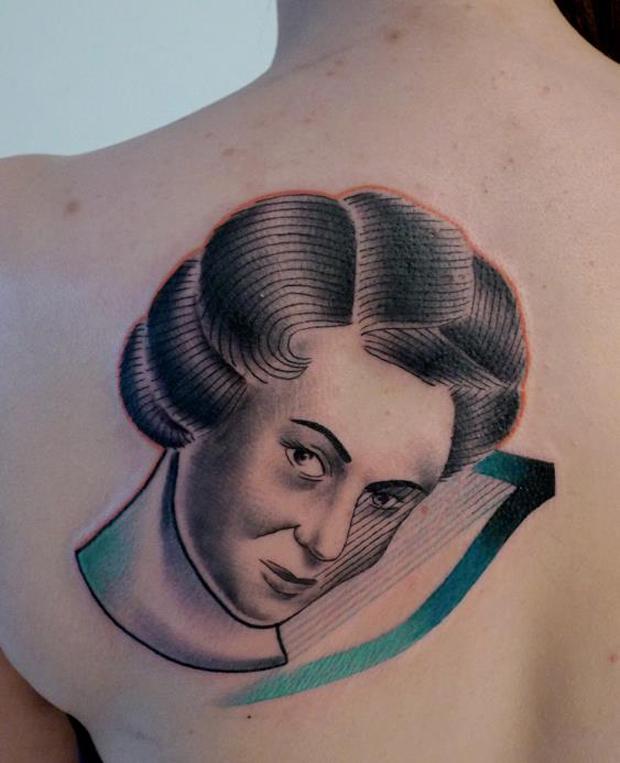 mariusz trubisz woman face tattoo