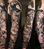 nature tattoo beautiful nature full arm sleeve