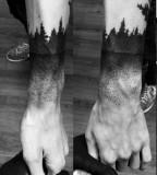 nature tattoo black wristbands dotwork