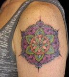 nature tattoo floral mandala on arm