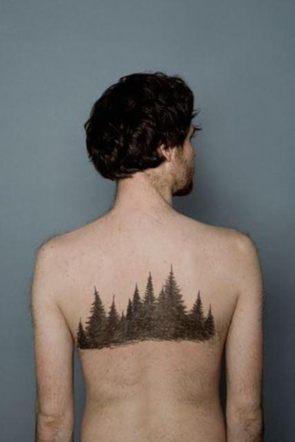 nature tattoo grove on back