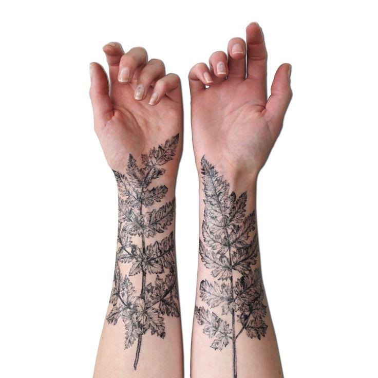 nature tattoo leaves sleeves