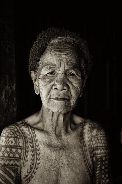 old women tattoo