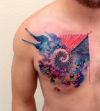 ondrash tattoo chest piece