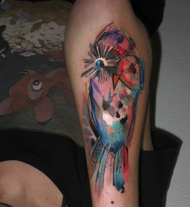 ondrash tattoo color owl