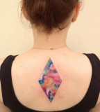 ondrash tattoo colour rhombus on back