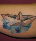 ondrash tattoo paper boat