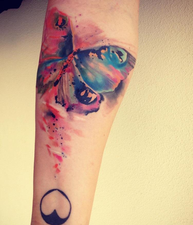 ondrash tattoo watercolor butterfly