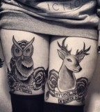 owl and roe tattoo