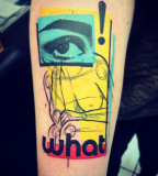 pop art tattoo by cavan infante