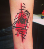 pop art tattoo by cavan infante red eye