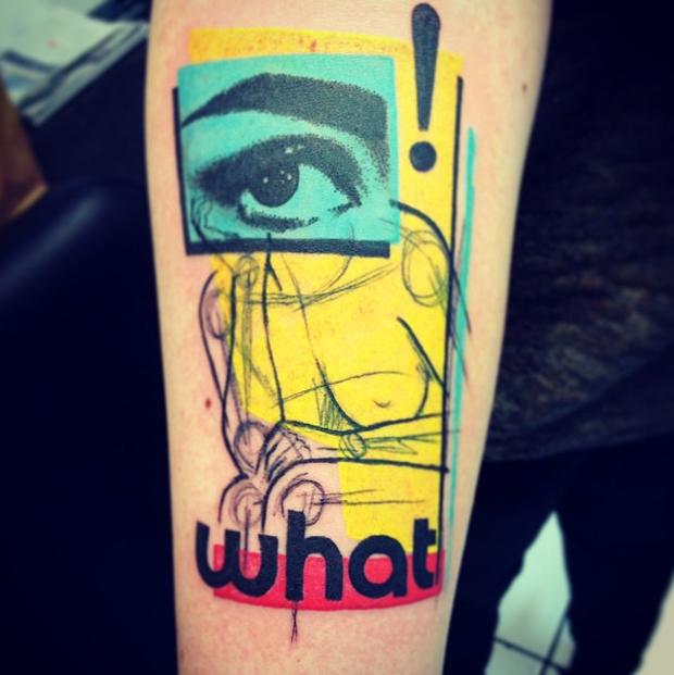 pop art tattoo by cavan infante
