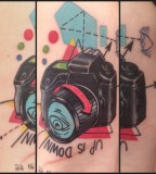 pop art tattoo camera