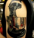 pop art tattoo food processor