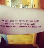 quite tattoo