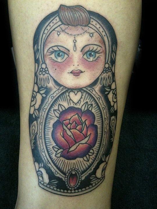 russian doll tattoo matryoshka jewellery