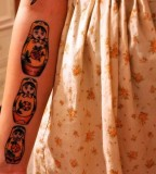 russian doll tattoo  matryoshkas on arm