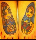 russian doll tattoo matryoshkas on feet