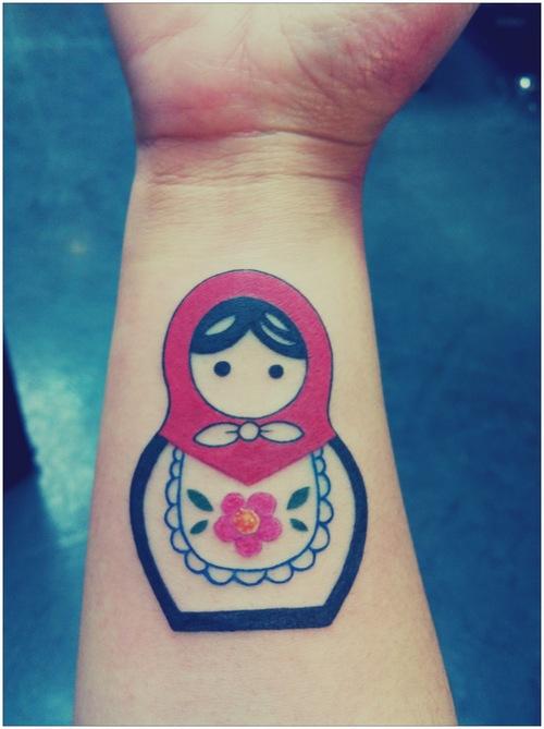 russian doll tattoo simple matryoshka