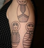 russian doll tattoo three matryoshkas on arm