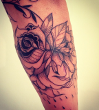 supakitch tattoo flowers