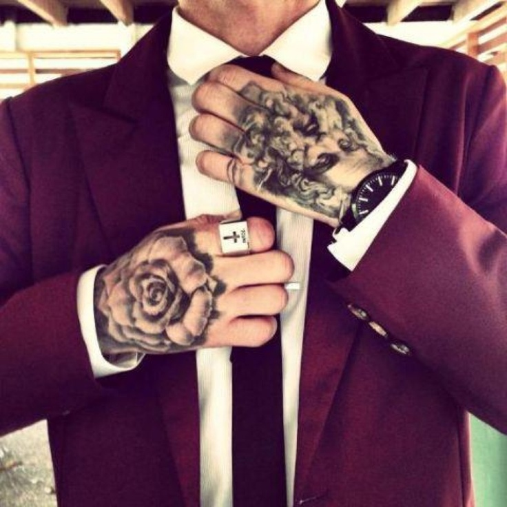 tattoos for men classy man with hand tattoos