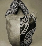tattoos for men tribal back and arm tattoo