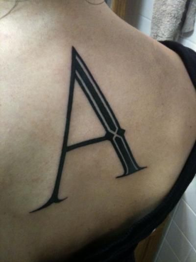 Typographic tattoos