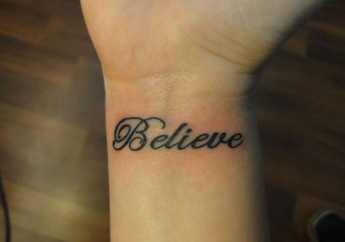words tattoo simple