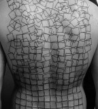 3D geometric tattoo