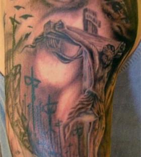 Adorable religious tattoo