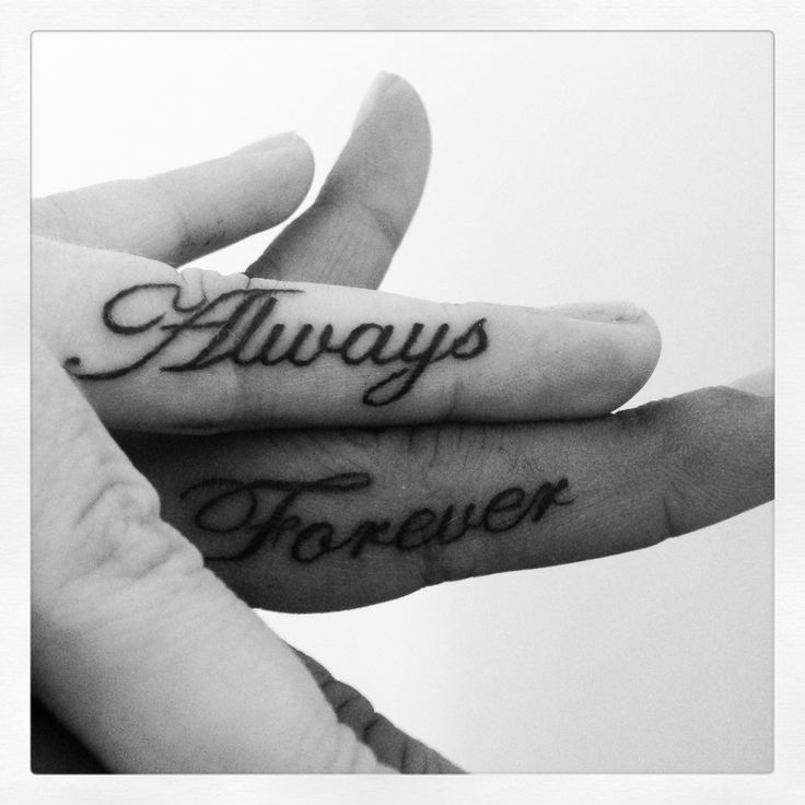 Always forever couples tattoo