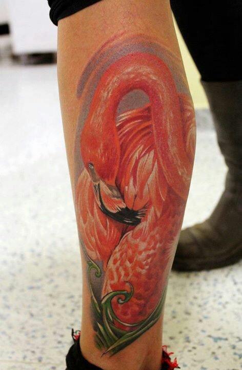 Amaizing flamingo tattoo