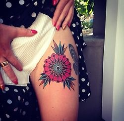 Amaizing flowers tattoo by Kirk Jones