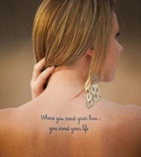 Amaizing quotes tattoo
