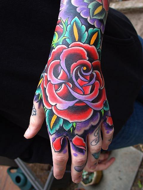 Colorful tattoos design