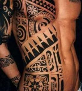 Amazing patterned tattoo