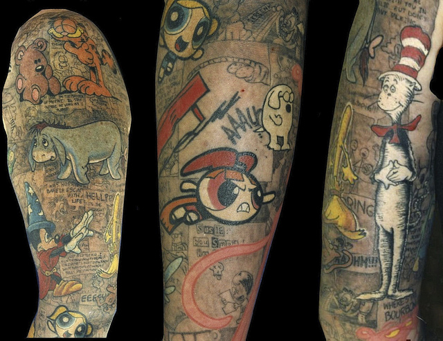 Animation tattoo by Michael Norris