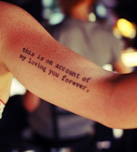 Arm quotes tattoo