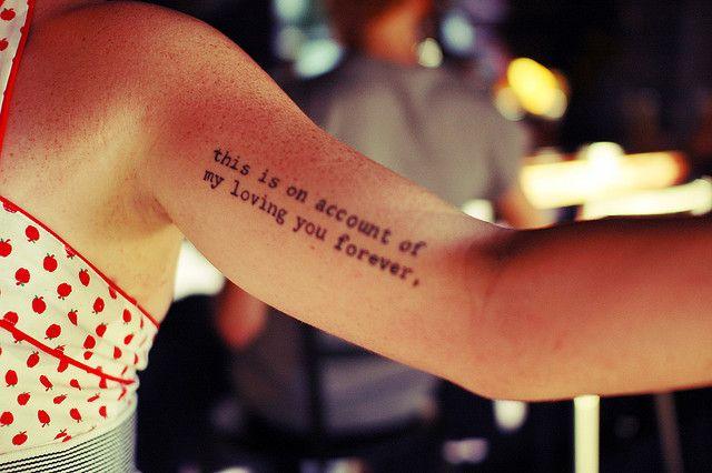 Arm quotes tattoo - | TattooMagz › Tattoo Designs / Ink ...