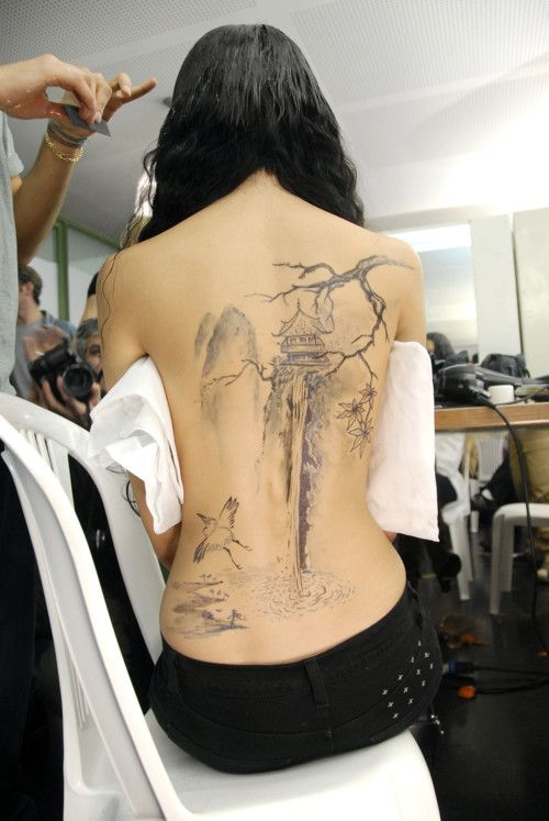 Asian tree tattoo
