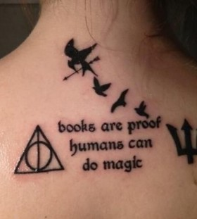 Awesome book tattoo