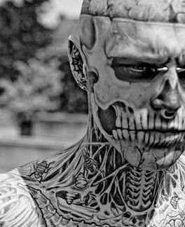 Awesome face tattoo