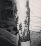 Awesome forest tattoo