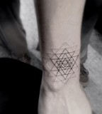 Awesome geometric tattoo
